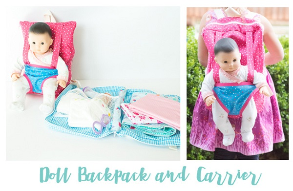 Tutorial and pattern: Baby doll backpack carrier – Sewing