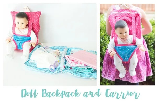 Tutorial and pattern: Baby doll backpack carrier