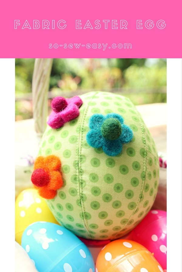 Tutorial and pattern: Fabric Easter egg with zipper