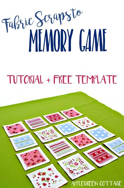 Tutorial Scrap fabric memory matching game