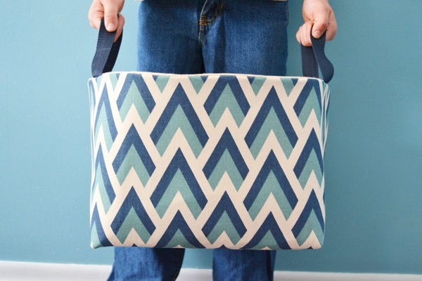 Tutorial: Fabric basket with handles