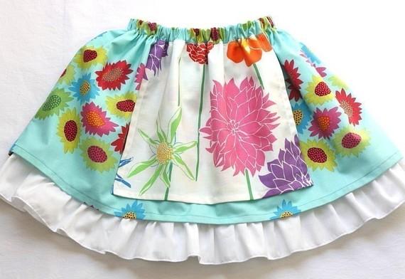 Tutorial: Little girls layered apron twirl skirt