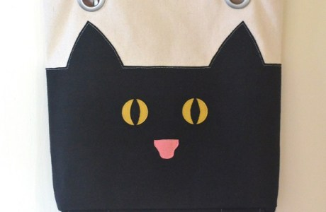 Tutorial and pattern: Cat tote with paws