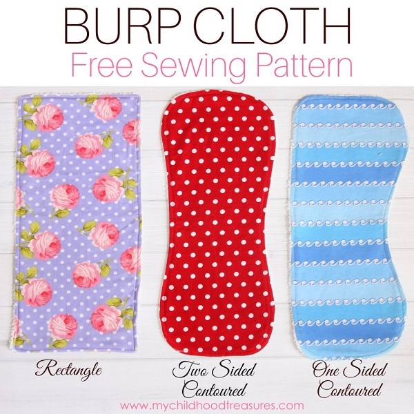 Tutorial and pattern: Burp cloth in 3 styles