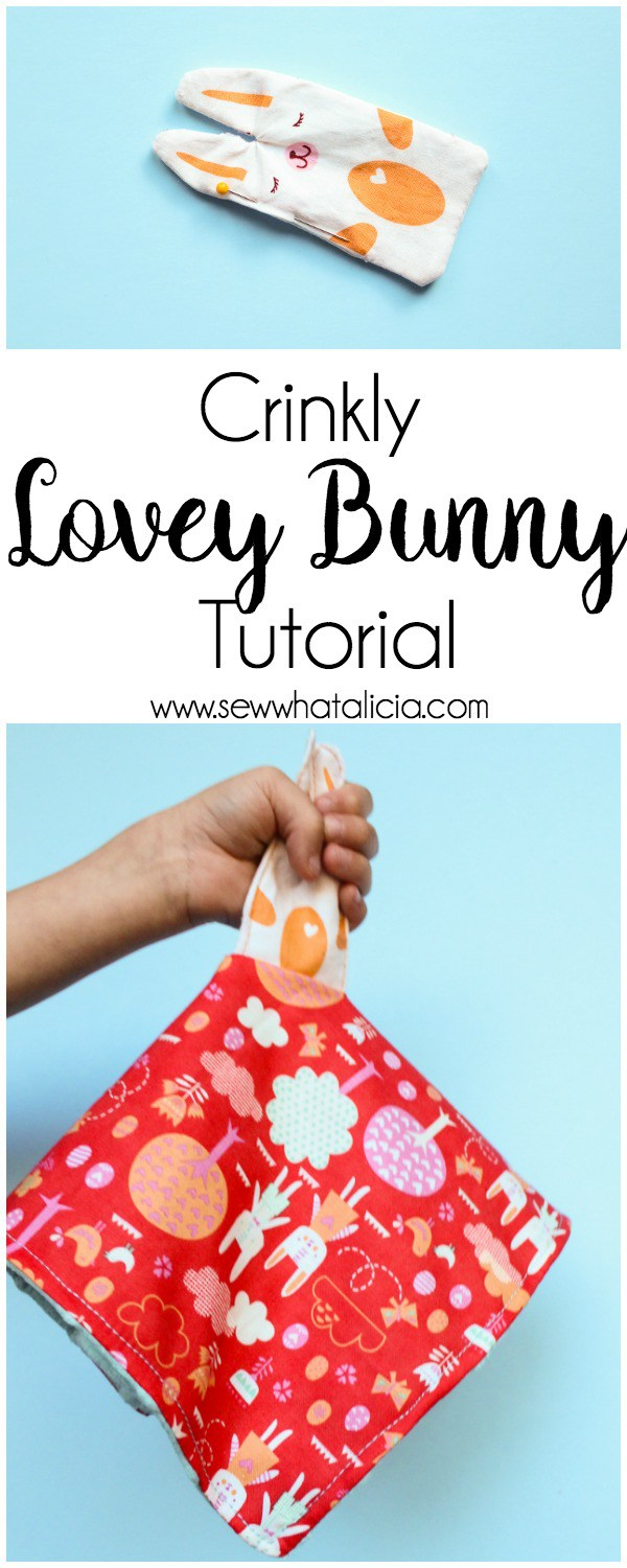 Tutorial: Bunny lovey crinkle toy