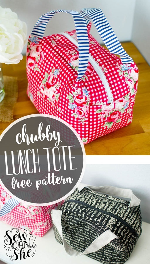 Tutorial and pattern: Chubby Lunch Tote