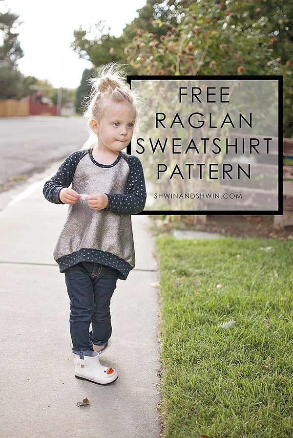 Tutorial and pattern: Bell raglan sweatshirt for toddlers