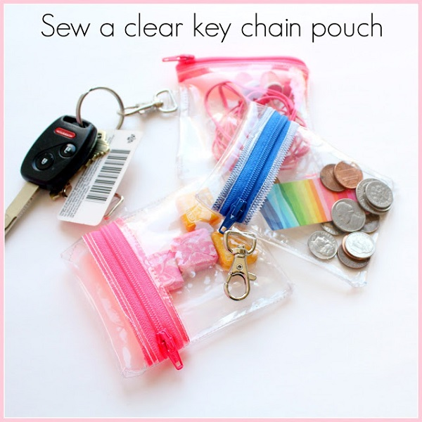 Tutorial: Clear vinyl keychain zip pouch