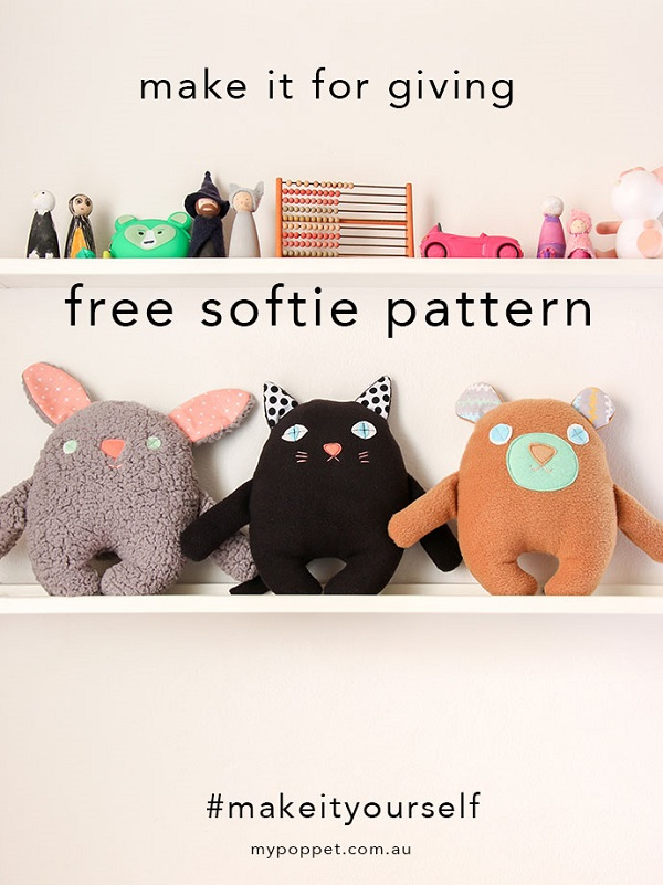 Tutorial and pattern: Bunny, cat, or bear softie