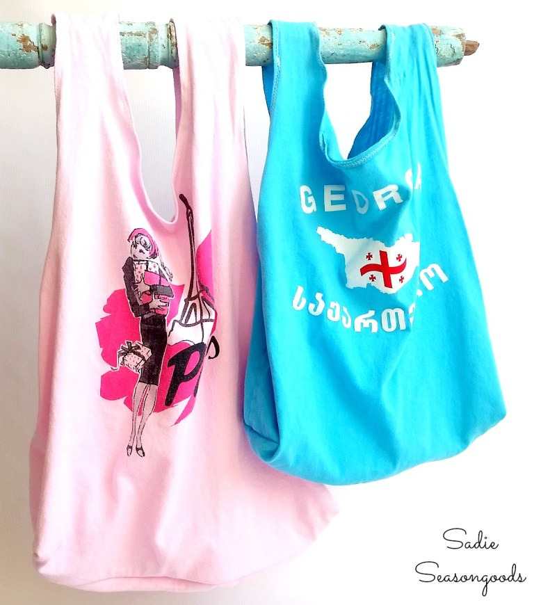 Tutorial: Reusable produce bag from a t-shirt