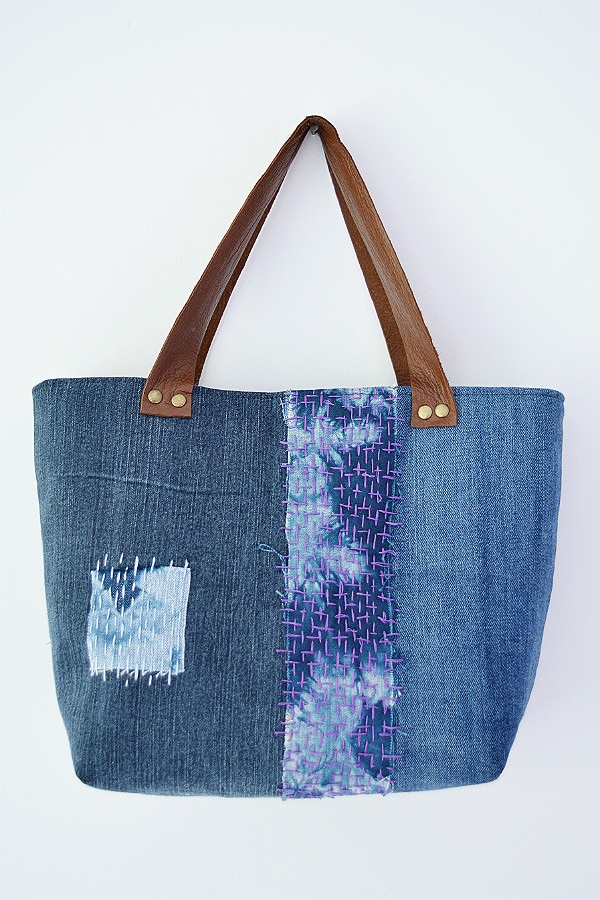 Tutorial: Sashiko denim tote bag
