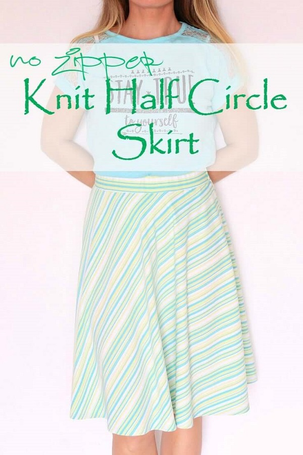 Tutorial: Easy half circle skirt from knit fabric – Sewing