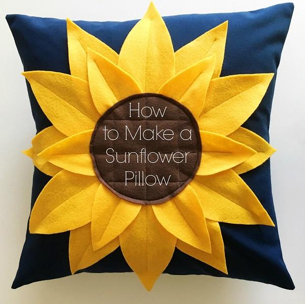 Tutorial: Sunflower pillow