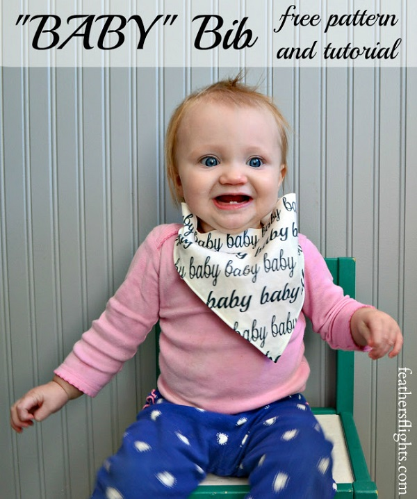 Tutorial: Easy snap tape bandana baby bib