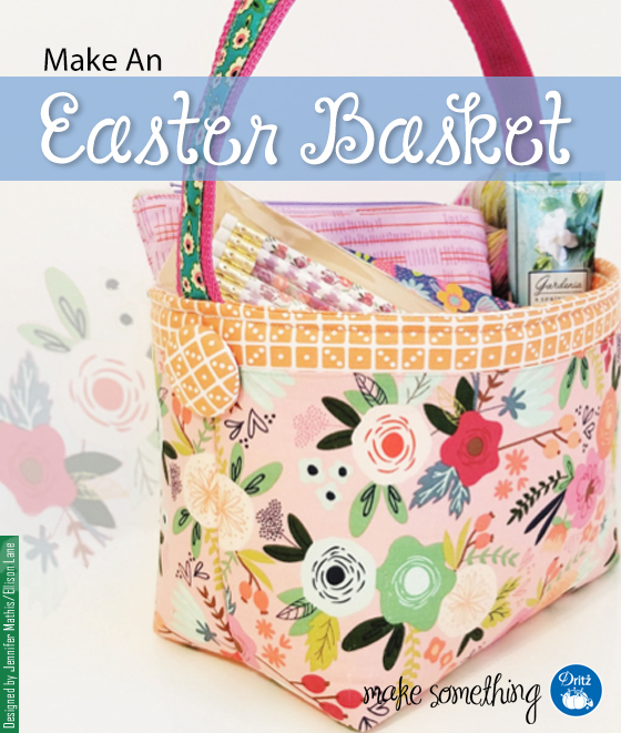 Tutorial: Fabric Easter basket with covered buttons