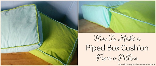 Tutorial: Box cushions with piping