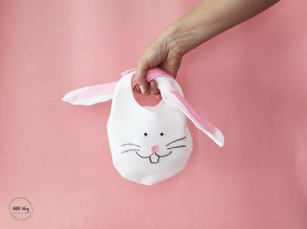 Tutorial: No-sew felt Easter bunny bag