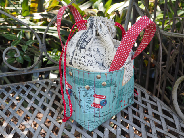 Tutorial: Drawstring fabric sewing basket