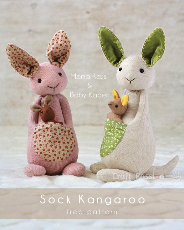 Pattern And Tutorial Sock Kangaroo Softie Sewing