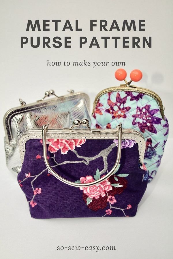 Tutorial: Make a pattern for a metal purse frame