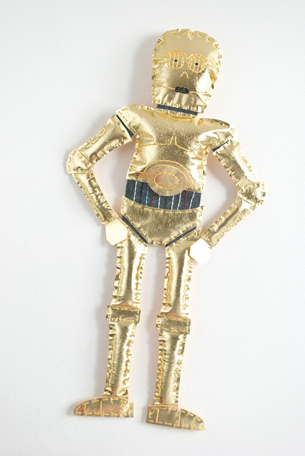 Pattern and tutorial: C-3PO softie