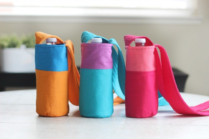Tutorial: Color block water bottle sling