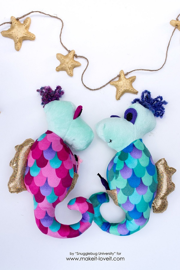 Tutorial and pattern: Seahorse softie