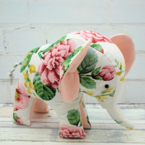 Tutorial and pattern: Flora the Elephant softie