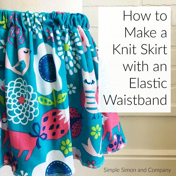 Tutorial: Elastic waistband knit skirt