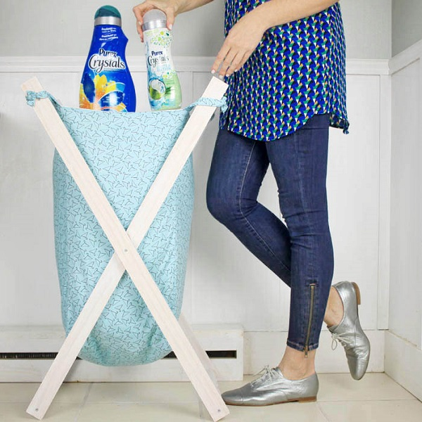Tutorial: X-frame laundry hamper