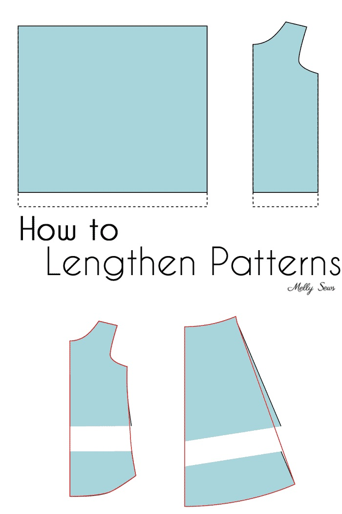 Tutorial: Lengthening a sewing pattern