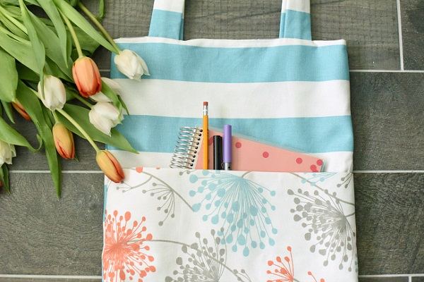 Tutorial: Simple tote bag with outside pocket