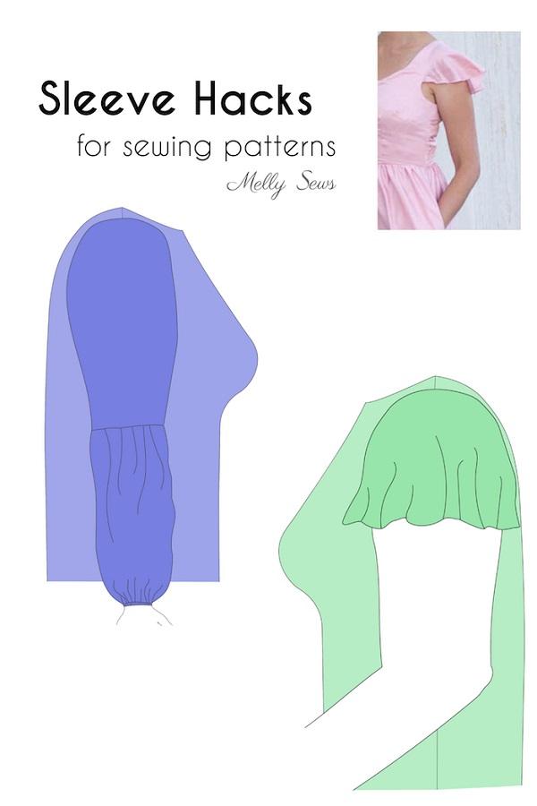 Tutorial: 2 easy sleeve pattern hacks
