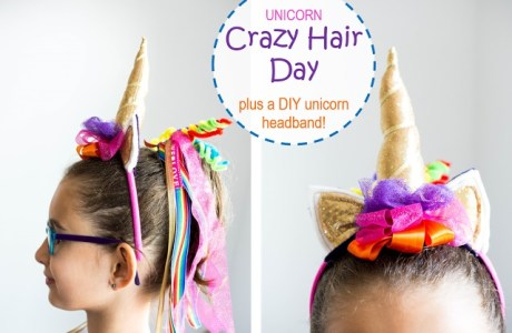 Tutorial: Crazy Hair Day unicorn headband