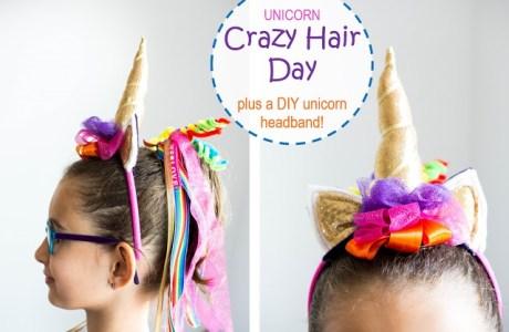 Tutorial: Crazy Hair Day unicorn headband