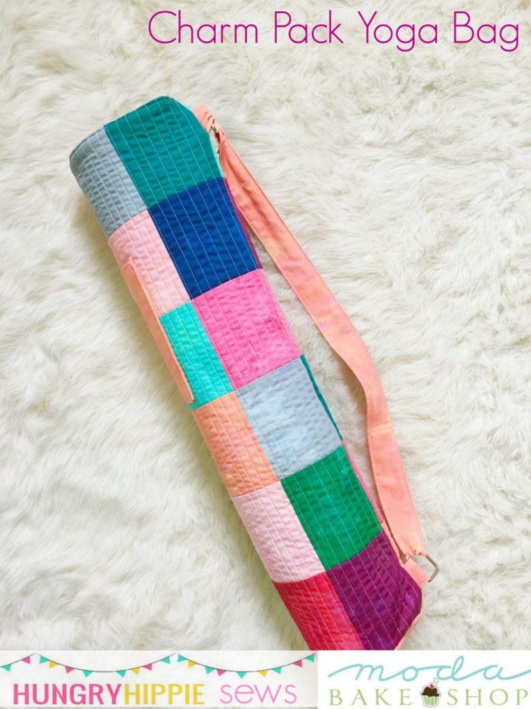 Tutorial: Charm square patchwork yoga mat bag – Sewing