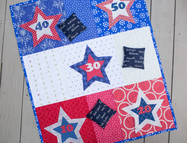 Tutorial Star bean bag toss game for 4th of July