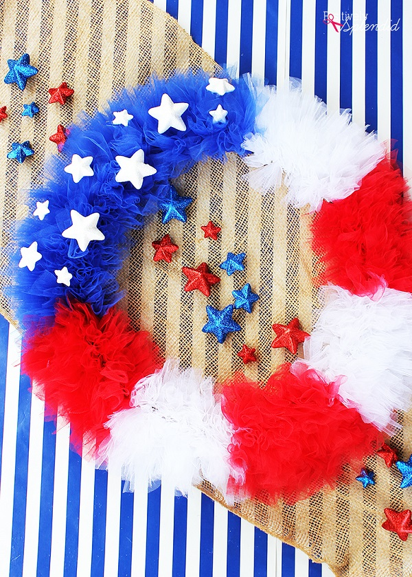 Tutorial 4th of July tulle wreath