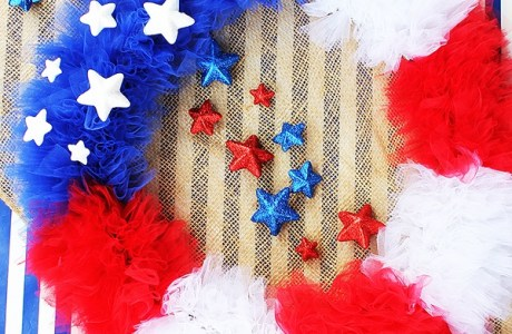 Tutorial: 4th of July tulle wreath