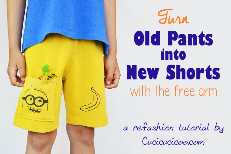 Tutorial: Make summer shorts from outgrown pants