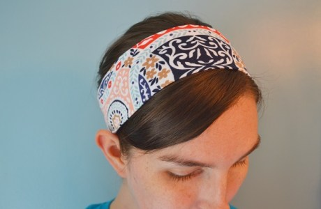 Tutorial: Basic knit fabric headband