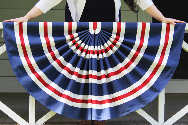 Tutorial Patriotic pleated flag bunting