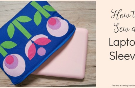 Tutorial: Mod flower applique laptop sleeve