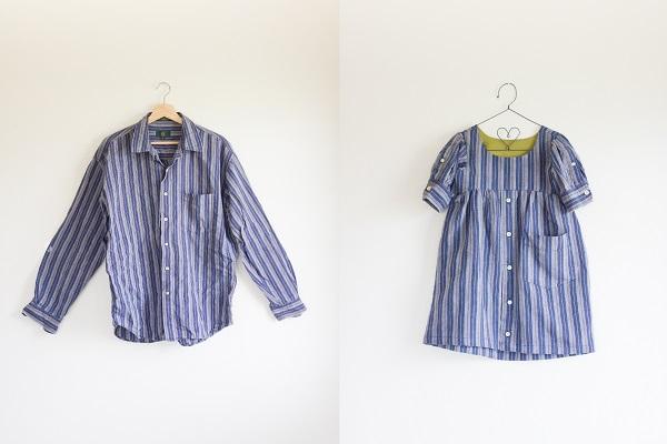 Tutorial: Men's shirt made into a little girl's dress