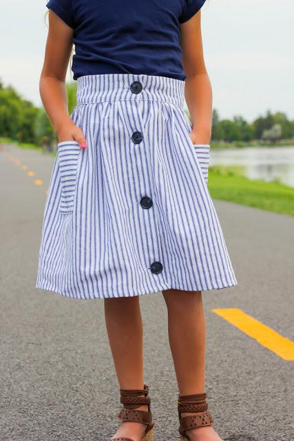 Tutorial: Girls button front skirt