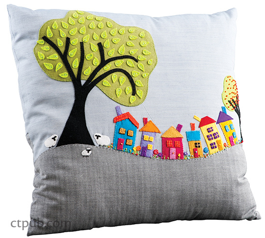 Tutorial and pattern: Wee Village Town Pillow