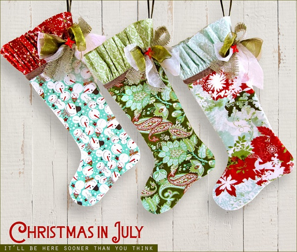 Tutorial and pattern: English cottage Christmas stocking