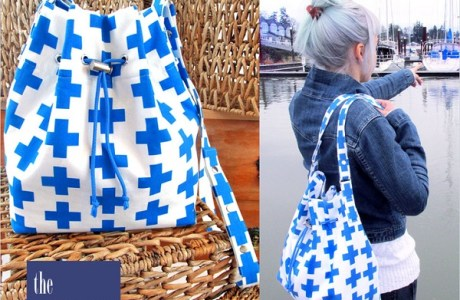 Tutorial: Drawcord bucket bag with cross body strap