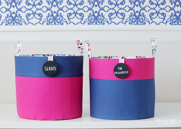 Tutorial: Color blocked canvas buckets