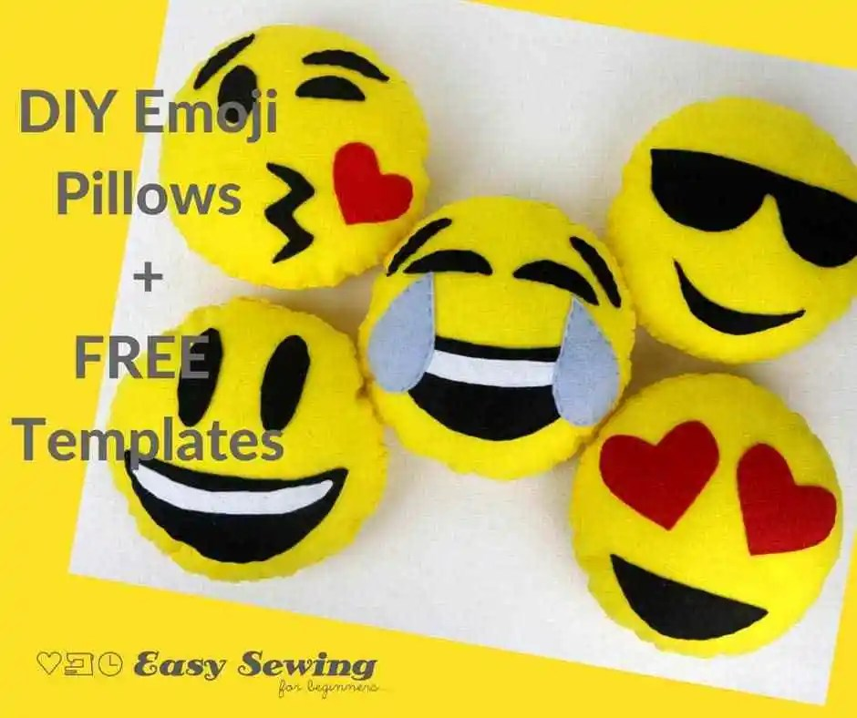 Tutorial and pattern: Emoji mini pillows